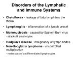 disorders of the lymphatic and immune systems