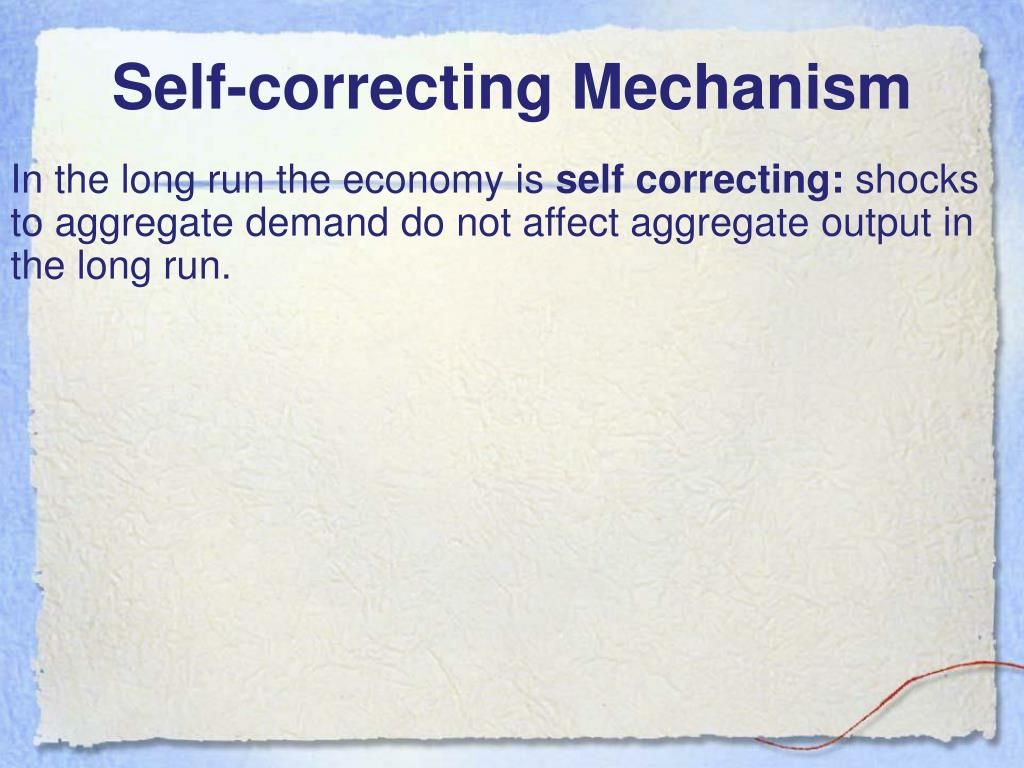 Self-correcting Mechanism