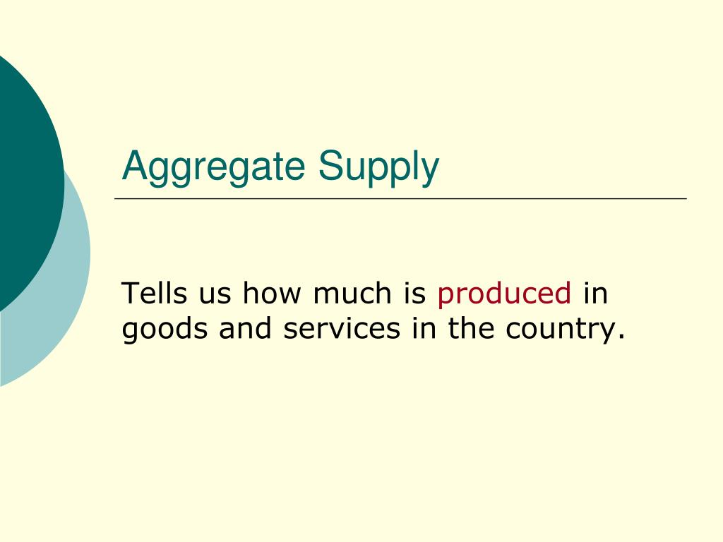 aggregate supply l.