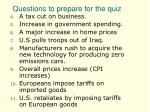 questions to prepare for the quiz32