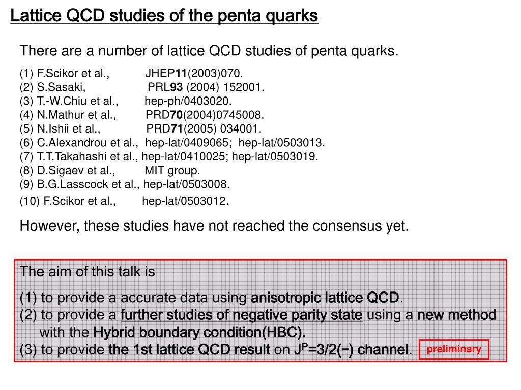 Lattice QCD studies of the penta quarks