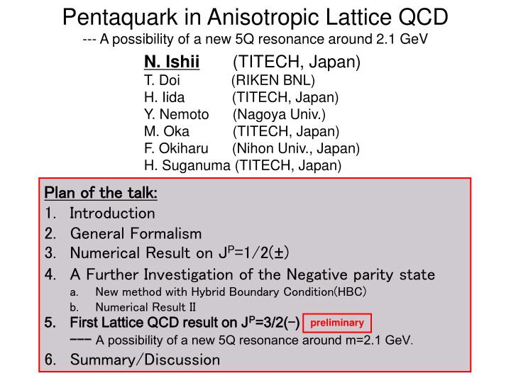 Pentaquark in anisotropic lattice qcd a possibility of a new 5q resonance around 2 1 gev