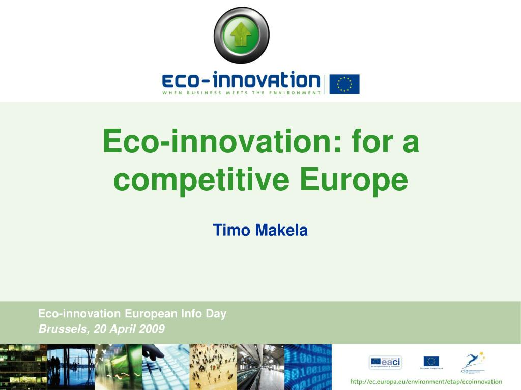 eco innovation for a competitive europe l.