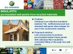 insulatfh pre insulated wall panels from recycled materials