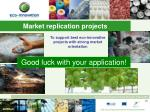 market replication projects