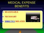 medical expense benefits