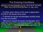 pre existing conditions