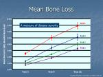 mean bone loss
