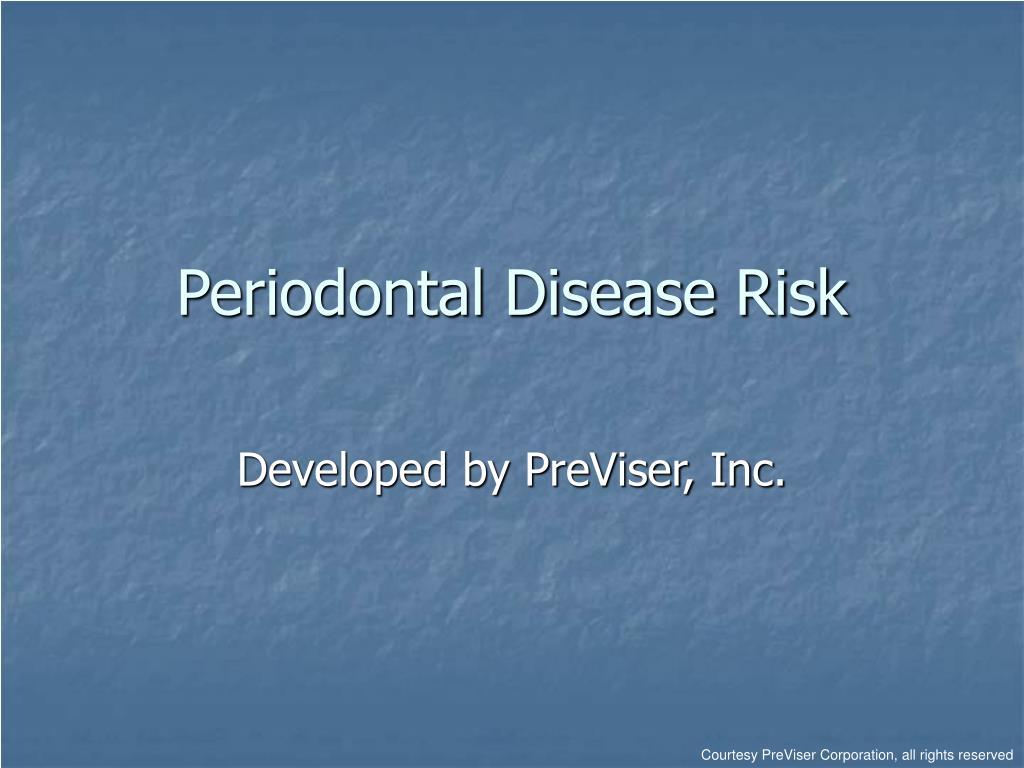 periodontal disease risk l.