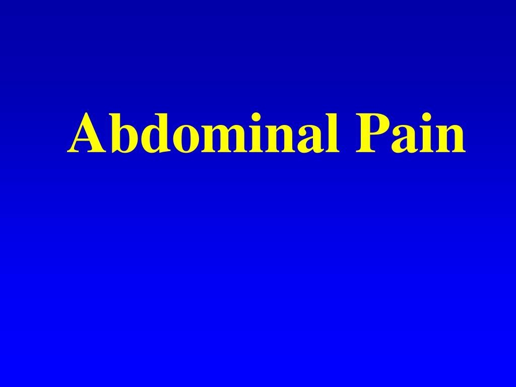 abdominal pain l.