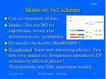 status of 3 2 scheme