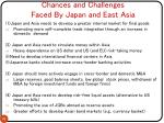 chances and challenges faced by japan and east asia