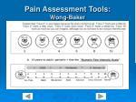 pain assessment tools wong baker