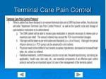 terminal care pain control
