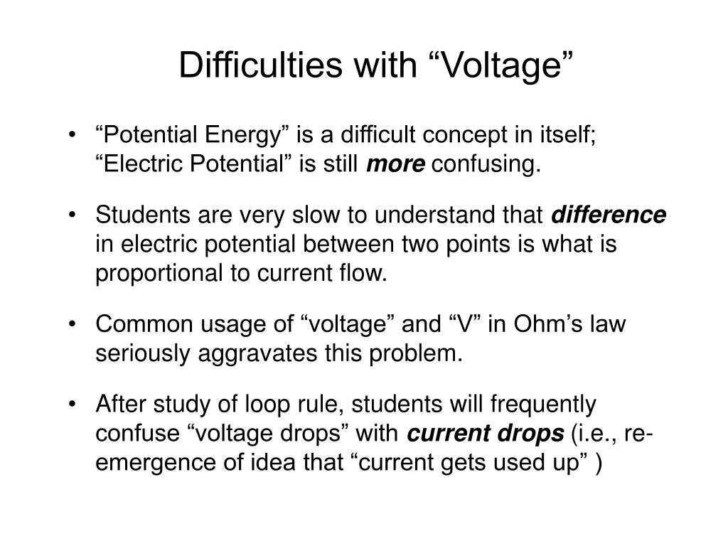 """Difficulties with """"Voltage"""""""