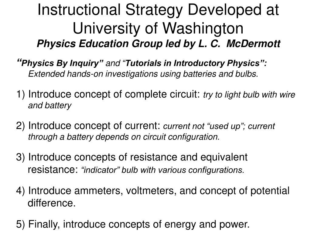 Instructional Strategy Developed at University of Washington