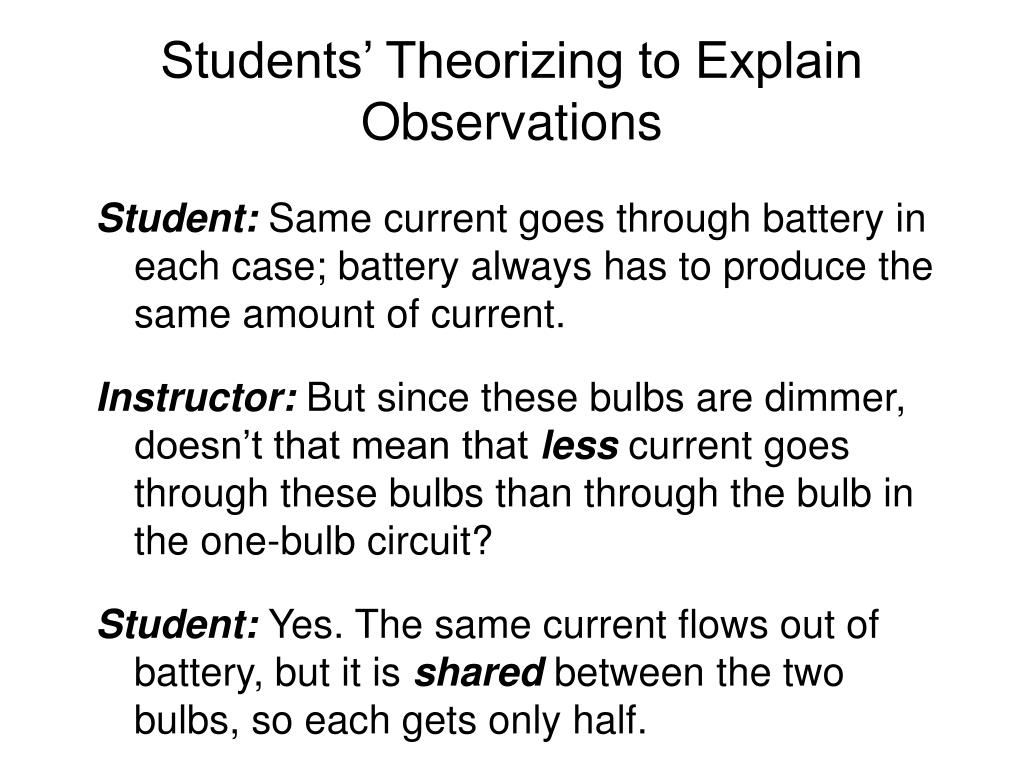 Students' Theorizing to Explain Observations