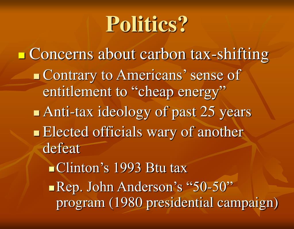 Politics?