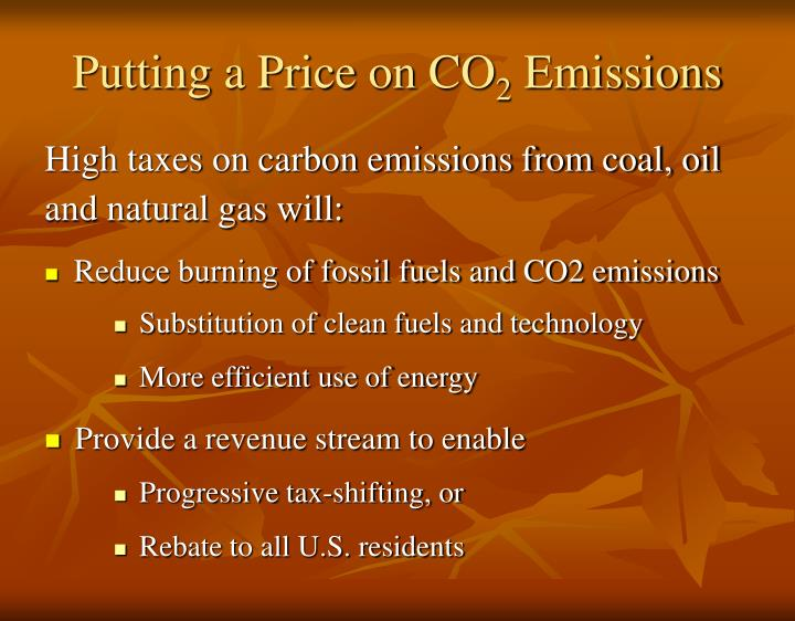 Putting a price on co 2 emissions