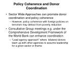 policy coherence and donor coordination