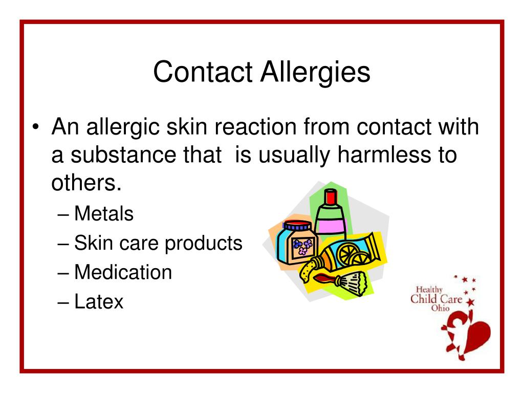 An allergic skin reaction from contact with a substance that  is usually harmless to others.