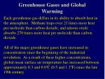 greenhouse gases and global warming28