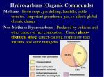 hydrocarbons organic compounds