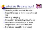what are restless legs