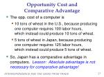 opportunity cost and comparative advantage1