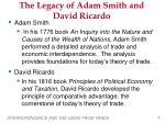 the legacy of adam smith and david ricardo