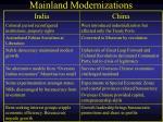 mainland modernizations