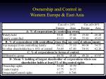 ownership and control in western europe east asia