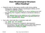 does morphological structure affect reading