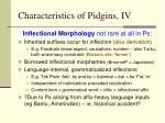 characteristics of pidgins iv