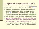 the problem of nativization in pcs
