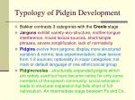 typology of pidgin development