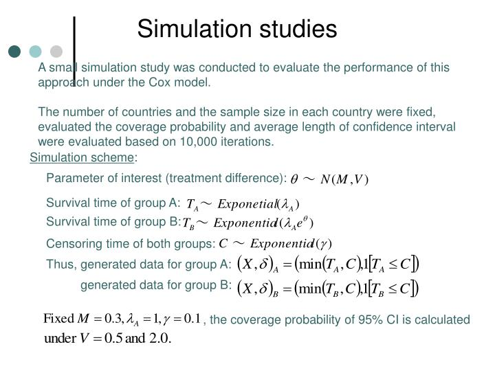 Simulation studies