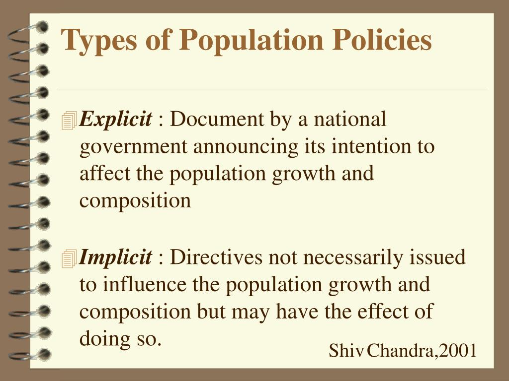 Types of Population Policies