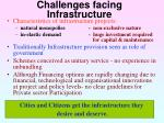 challenges facing infrastructure