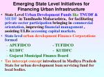 emerging state level initiatives for financing urban infrastructure