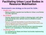 facilitating urban local bodies in resource mobilisation