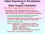 indian experience in privatisation of water supply sanitation27
