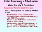 indian experience in privatisation of water supply sanitation28