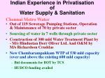 indian experience in privatisation of water supply sanitation29