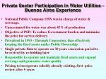 private sector participation in water utilities buenos aires experience