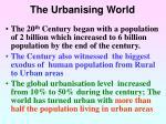 the urbanising world