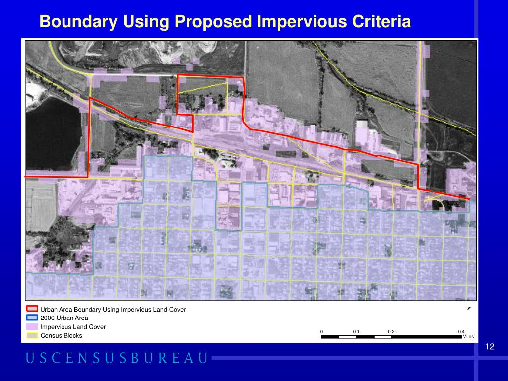 Boundary Using Proposed Impervious Criteria