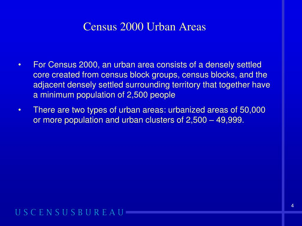 Census 2000 Urban Areas