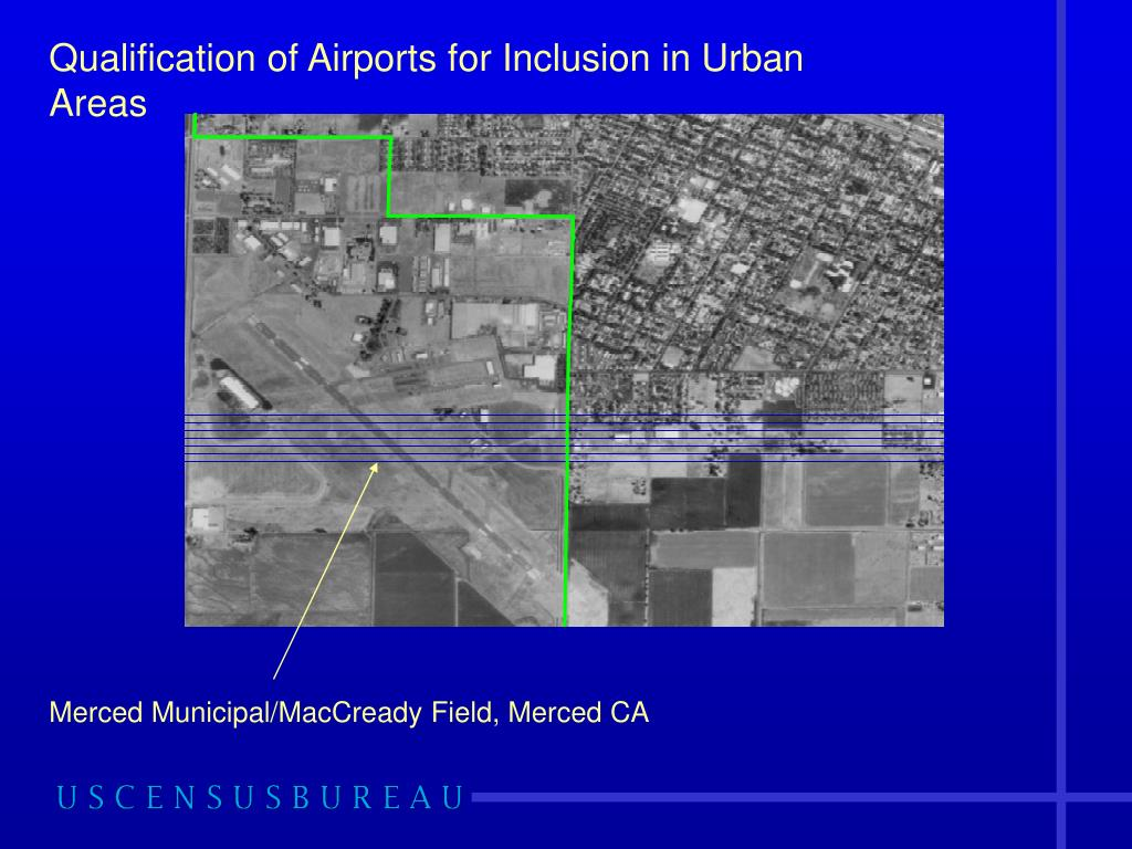 Qualification of Airports for Inclusion in Urban Areas