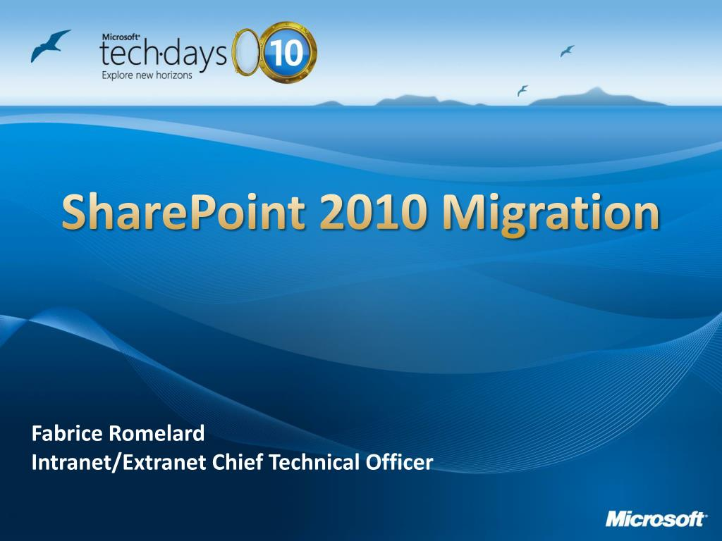 sharepoint 2010 migration l.